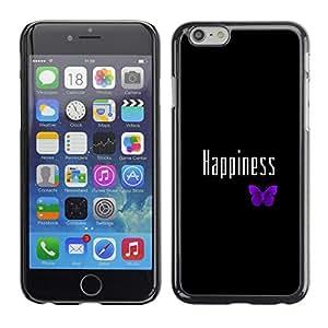 Stuss Case / Funda Carcasa protectora - FELICIDAD LINDA MARIPOSA PÚRPURA - Apple Iphone 6 Plus 5.5