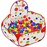 Dreampark Kids Ball Pit Playpen Ball Tent with Basketball Hoop and Zippered Storage Bag for Toddlers, 3.93 ft/120cm (Balls not Included)