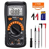 Multimeter Tacklife DM02S Auto-Ranging Digital Multimeters NCV Electrical Tester Multimeter Tester Volt Amp Ohm Diode, Continuity Test Meter LCD Backlight Measurement Tools with Screwdriver