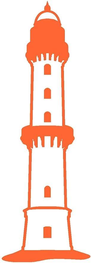Samunshi Leuchtturm Warnemünde Aufkleber In 8 Größen Und 25 Farben 5 1x15cm Orange Küche Haushalt