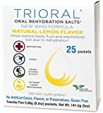TRIORAL Natural Lemon w/ Stevia Oral Rehydration Salts (World Health Organization (WHO) New Formula for Food Poisoning, Hangover Prevention and Relief, Dehydration from Diarrhea (25 Packets/Box)