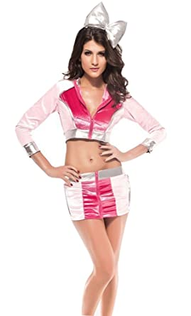 halloween costumes for womens lingerie sexy sci fi barbarella set