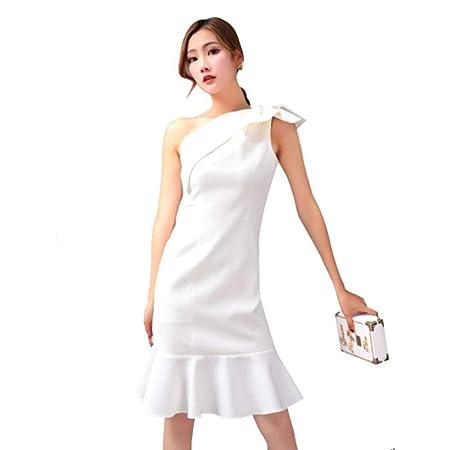 ZENWEN 2019 Primavera Nuevo Temperamento Blanco Elegante Vestido ...
