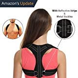 Posture Corrector for Women&Men Under Clothes,Posture Brace,Adjustable Back Brace with Reflective Strips,Back Posture Correct Brace,Clavicle Brace,Back Support for Shoulder&Neck&Upper Back Pain Relief