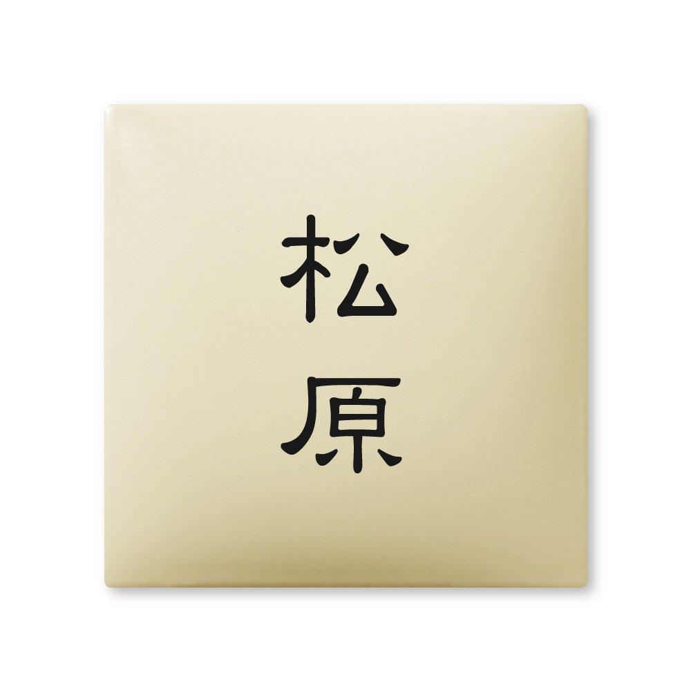 丸三タカギ ネームプレート 彫り込み済表札 アークタイル AR-1-2-1-松原 彫り込み名字: 松原 【完成品】   B00RFAFIS2