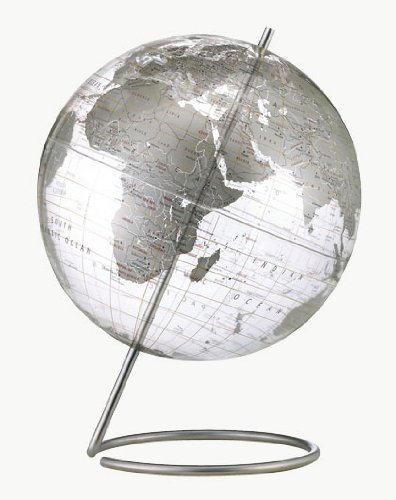 Replogle Globes Crystal Marquise Globe, Silver, 12-Inch Diameter by Replogle