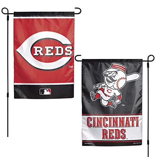 WinCraft MLB Cincinnati Reds 12x18 Garden Style 2 Sided Flag, One Size, Team Color