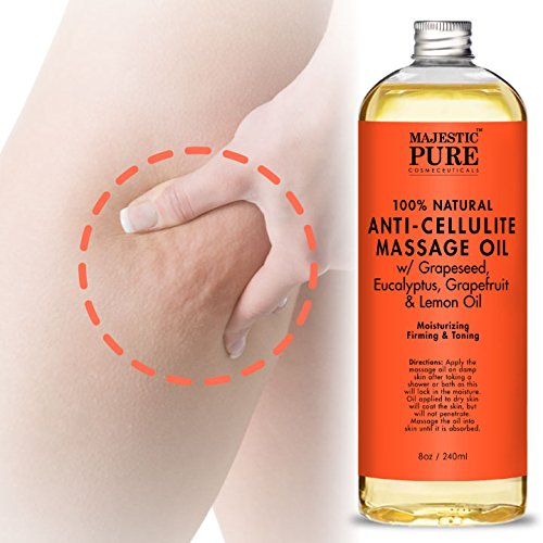 Majestic Pure Anti Cellulite Massage Oil, 8 oz.