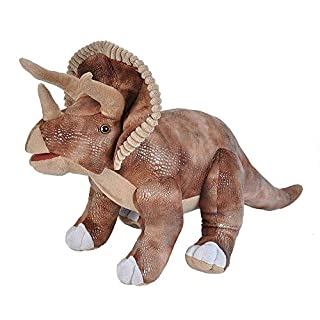 Wild Republic Dinosaurs, Triceratops Plush Stuffed Animal Toy, Gifts for Kids, 28""