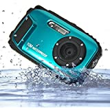 "PowerLead BP88 Camera Waterproof Digital Video Camera 2.7"" TFT Screen 5mp Underwater 9 Mega 8x Zoom Digital Camera-Blue"