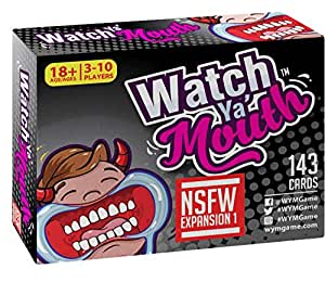 Watch Ya Mouth NSFW (Adult) Expansion #1 Card Game Pack, for All Mouth Guard Games