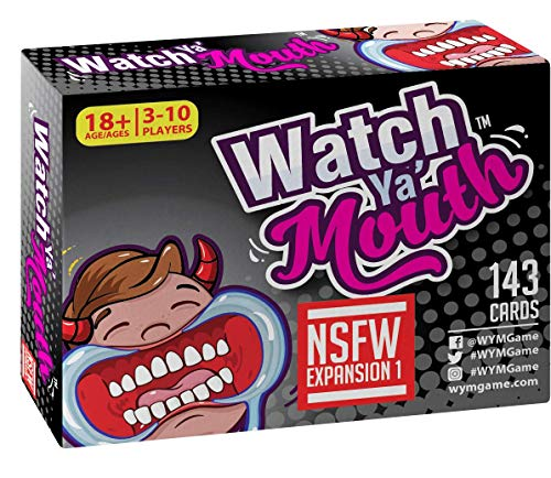 Watch Ya' Mouth NSFW (Adult) Expansion #1 Card Game Pack, for All Mouth Guard Games (Best Thanksgiving Games Adults)