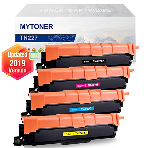 [WITH CHIP] MYTONER Compatible for Brother TN-227 TN223 TN227 Toner Cartridge Brother HL-L3210CW HL-L3230CDW HL-L3270CDW HL-L3290CDW MFC-L3710CW MFC-L3750CDW MFC-L3770CDW Toner Printer Ink (KCMY, 4PK)