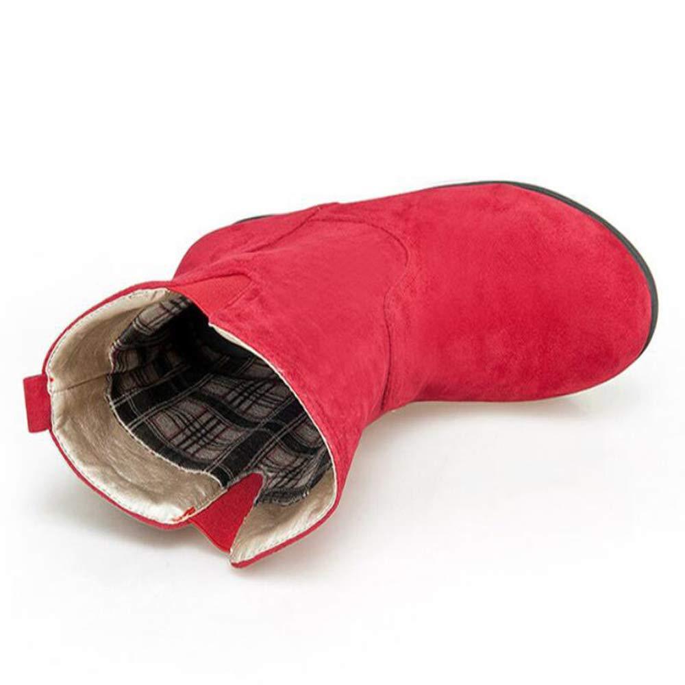 CITW Herbst Damenstiefel Steigen Innerhalb Von Von Von Martin Stiefel Wildleder Matte Großformatige Damenstiefel Mode Stiefel,rot,UK4 EUR38 99165a