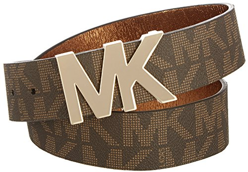 Michael Kors Signature Logo Wide Belt Brown Medium