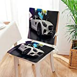 Mikihome 2 Piece Set Chair Cushion A Sports car on The Exhibition Perfect Indoor/Outdoor Mat:W17 x H17/Backrest:W17 x H36