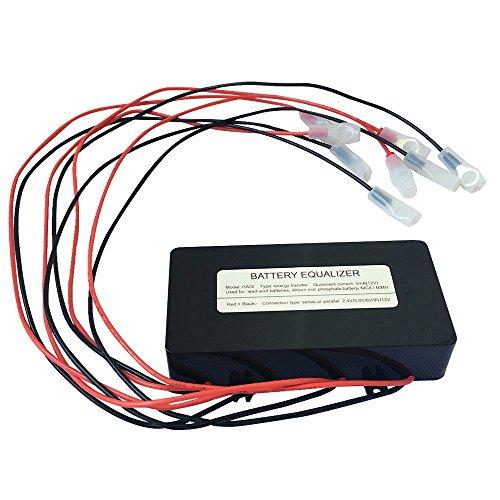 Lead Acid (KRXNY Battery Equalizer 48V Max 4 X 12V Batteries Voltage Balancer Charger For Gel Flood AGM Lead Acid Lithium Battery Bank Extend)