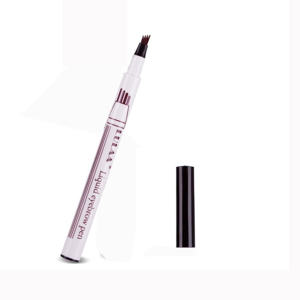 ❤JPJ(TM)❤️ Eyebrow Pen,Tattoo Eyebrow Pen with Four Tips Long-lasting Waterproof Fork Tip Sketch Makeup Pen Microblading Ink Sketch Beat Tool for Your Eyebrow (C)