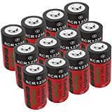 EaseBuy CR123A Rechargeable Batteries, 12-Pack 700mAH 3.7V RCR123A Lithium Camera Batteries for Arlo Cameras, Led Flashlight, Security System