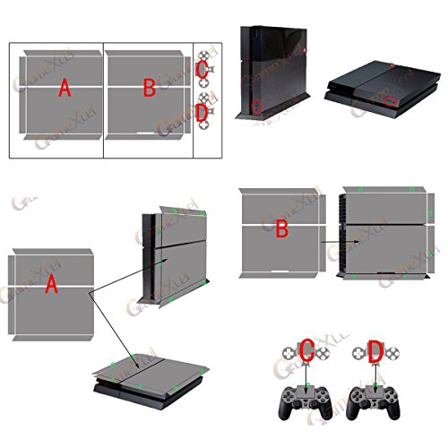 PS4-Designer Skin for Sony PlayStation 4 Console & Two(2) Decals for: PS4 Dualshock Controller - Weeds Black