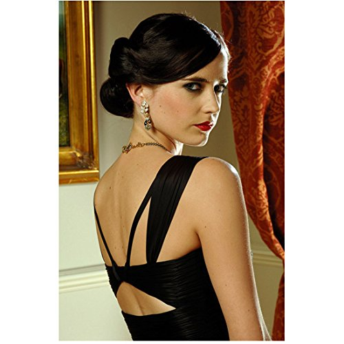 Eva Green 8x10 Photo Casino Royale Penny Dreadful in Strappy Black Dress Looking Over Righ Shoulder kn