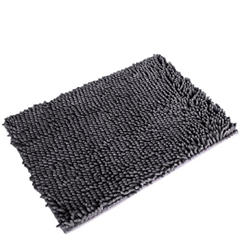 Resulzon Thick Indoor Morden Area Rugs Pads, New Arrival Fashion Color [Bedroom] [Livingroom] [Sitting-room] [Rugs] [Blanket] [Footcloth] for Home Decoration (Grey) Photo #2