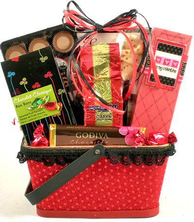 Be My Valentine | Valentines Day Gift Basket for Men or Women (Care Package For My Boyfriend)