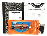 Light Blue Protractor And Graph Book Bundle