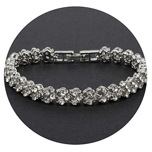 Ink White Roman Style Crystal Bracelets Jewelry Fantastic Wristlet Pendant,B