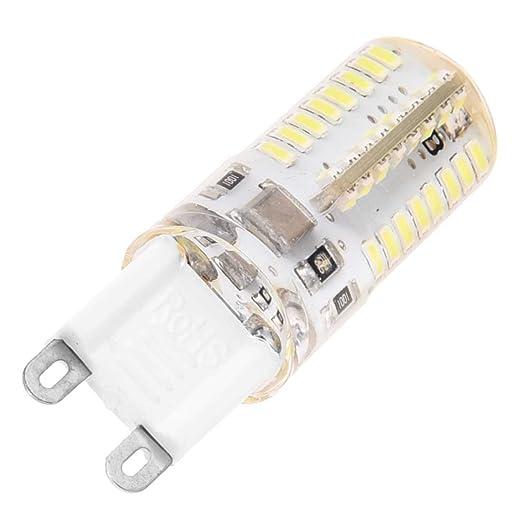 SODIAL(R) 4X Bombilla Ahorrador Lampara LED 3 Watt G9 AC220V-240V Blanco