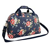 Oflamn 29L Large Floral Duffle Bag Water Resistant Canvas Travel Weekender Overnight Gym Bag for Women