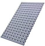 ifrmmy Non Slip Bath Shower Floor Mat with Drain Hole- Anti Slip and Mold Resistant Bathroom Stall Mat, 25'' x 16'' (Gray)