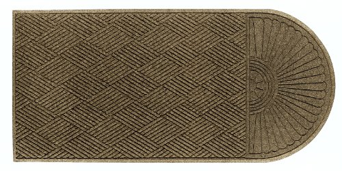 M+A Matting 273 Waterhog ECO Elite Polypropylene Entrance Indoor/Outdoor Floor Mat, Half Oval One End, 5.5' Length x 3' Width, Camel ()