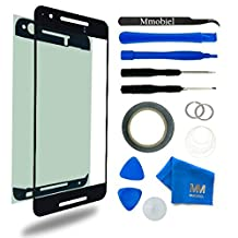 Front Glass for Huawei Nexus 6P Series Black Display Touchscreen incl Tool Kit / Pre-cut Sticker / Tweezers/ Roll of 2mm Adhesive Tape / Suction Cup / Metal Wire / Microfiber cleaning cloth MMOBIEL