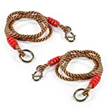 2Pcs Adjustable Swing Ropes 1.8M Tree Hanging Swing Straps Strong Ropes