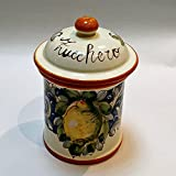Arte D'Italia Imports Volute Handmade Hand Painted Sugar Canister