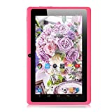 iRULU eXpro X1 7 Inch Google Android Tablet PC, 1024x600 Resolution, 16GB Nand Flash, Wi-Fi, Games, Dual Cameras (Pink)