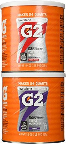 Gatorade G2 Combo Grape/Fruit Punch Powder Mix 19.6 Oz (2 Pack)