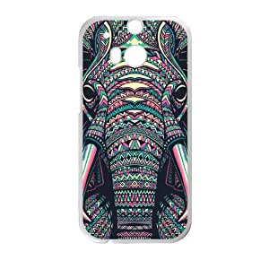 Canting_Good Elephant aztec tribal Custom Case Shell Skin for HTC One M8 (Laser Technology)