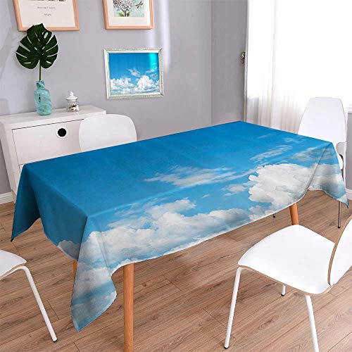 Price comparison product image Liprinthome Spillproof Fabric TableclothTimes of Hg Kg City Morning and Evening Urban Downtown Bathroom wear-resistant,  washable,  anti-liquid spill / 52W x 70L Inch
