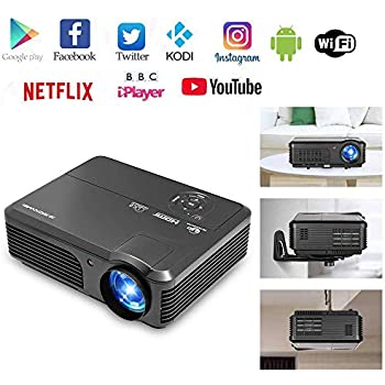 Amazon com: LCD LED Android Wireless Projector with HDMI Bluetooth