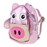 Dovewill Adorable Zipper Cute Pig Backpack Schoolbag for 12'' OOAK Takara Blythe Doll Neo Blythe Nude Doll Clothing Accessories Light Purple