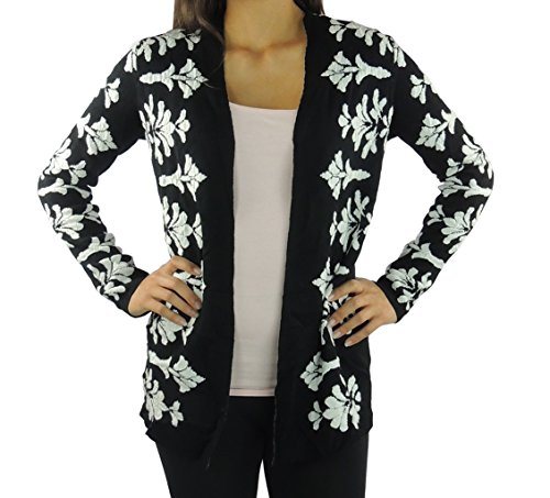 charter-club-womens-holiday-inn-cardigan-sweater-small-deep-black-combo