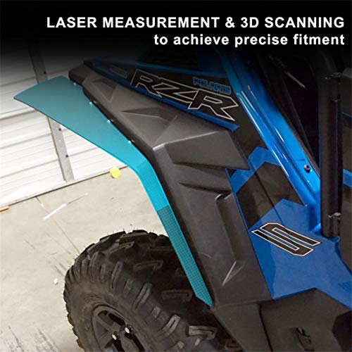 KIWI MASTER Front Mud Flaps Compatible for Polaris RZR XP//4 1000 S 900 Turbo 2014-2019 Extended Mud Flap Guards Fenders Flares