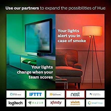 Apple HomeKit and Google Assistant Philips Hue Single Premium Smart Bulb for most lamps /& overhead lights Works with Alexa Hub Required 16 million colors