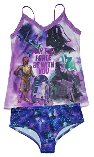 Star Wars Lingerie (Star Wars May The Force Be With You Cami Panty Set - Large)