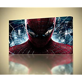 Amazon.com: Spider Man Homecoming CANVAS PRINT Wall Decor Giclee Art ...