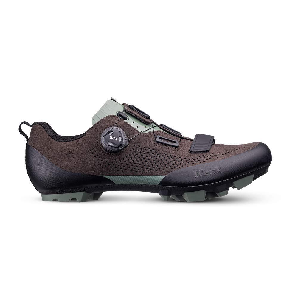 Fizik - Hauszapatos de Ciclismo de Cuero para Hombre marrón marrón Oscuro -