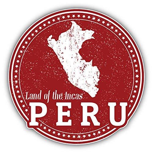 DG Graphics Peru Map Grunge Stamp Art Decor 5