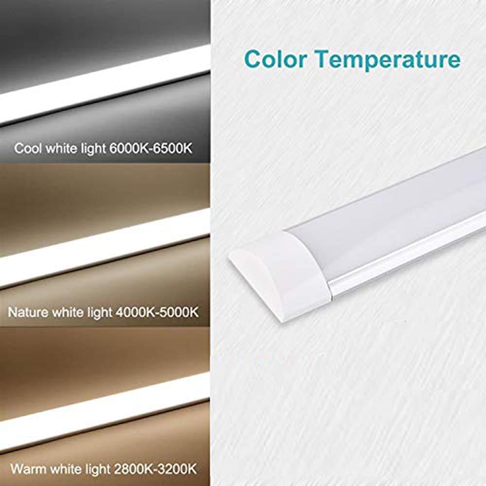 Luz de Taller 3600LM 4000K Tubo de Luz LED Luces LED Bellanny 30W 90cm Office Home Luz de Led Blanco Natural para Garaje